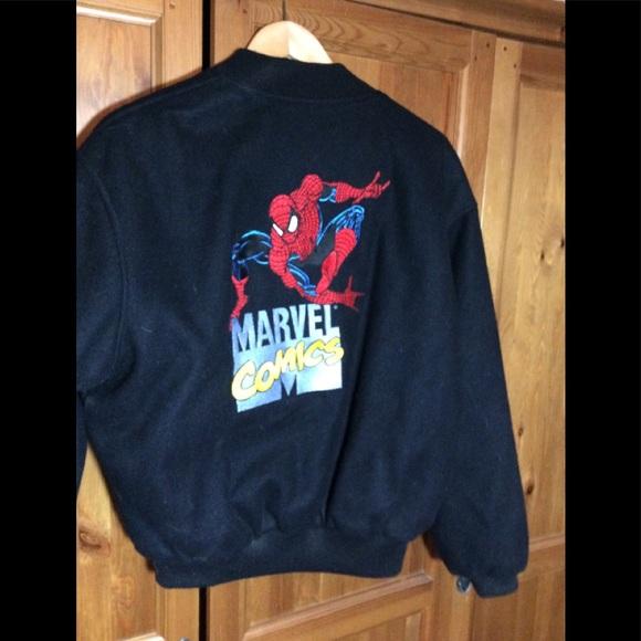11e959553 Vintage Marvel Spider-Man Wool Bomber